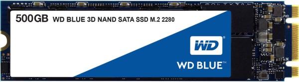 WD Blue 3D NAND SATA SSD WDS500G2B0B - Solid-State-Disk - 500 GB - intern - M.2 2280 - SATA 6Gb/s