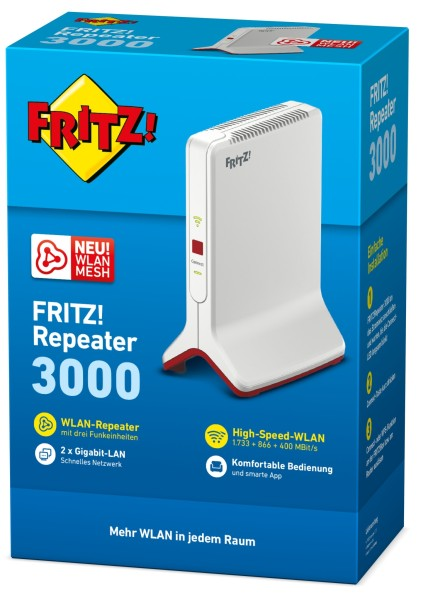 AVM FRITZ! Repeater 3000 - Wi-Fi-Range-Extender - GigE - Wi-Fi - Dualband