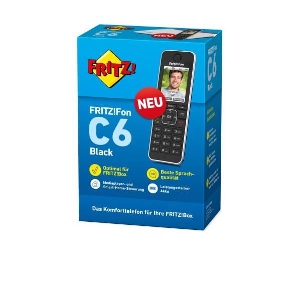 AVM FRITZ!Fon C6 - Schnurloses Erweiterungshandgerät - Anrufbeantworter - mit Internetradio mit Rufn